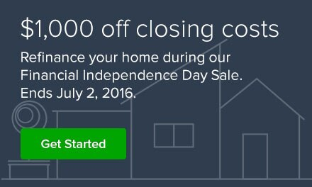 $1,000 off closing costs. Refinance by 7-2-16. Get started.