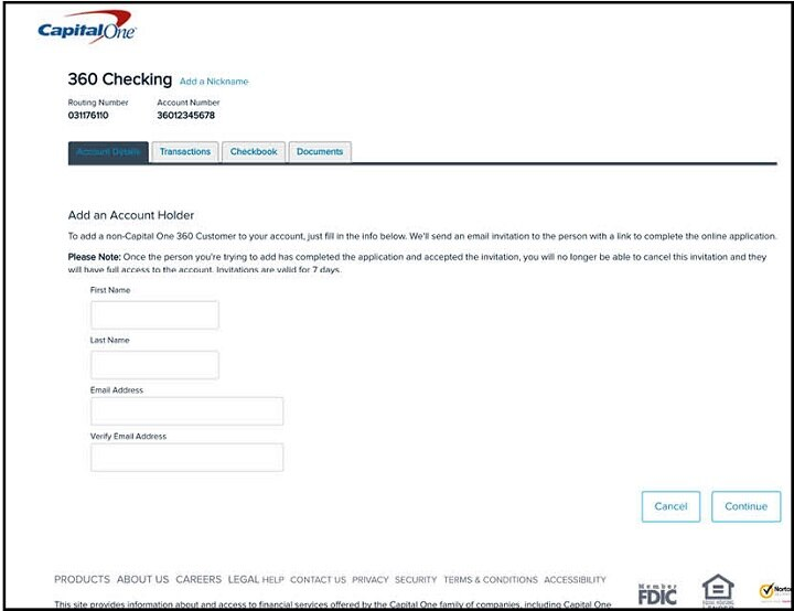 Contact Capital One >> Add An Account User