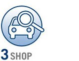 In the third and final step, you shop. Find your perfect vehicle, and bring your Blank Check. Your loan isn't activated until you sign the check.