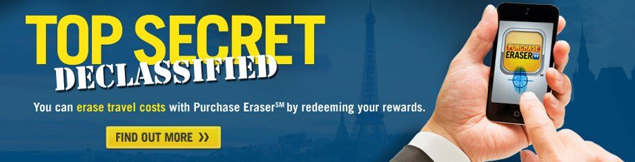You can erase travel costs with Purchase Eraser by redeeming your rewards.
