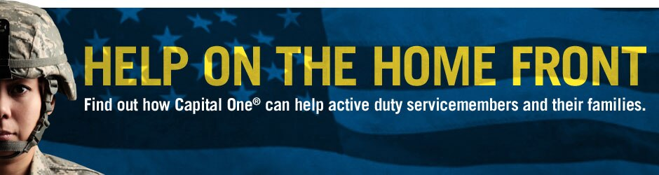 Find out how Capital One can help active-duty military personnel and their families through the Servicemembers Civil Relief Act.