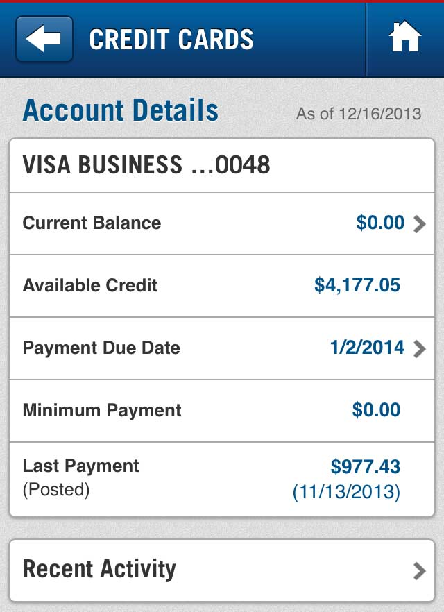 capital credit card bill