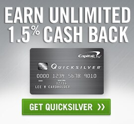 Get Quicksilver. Earn Unlimited 1.5% Cash Back