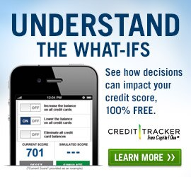 Learn more about Capital One Credit Tracker. Understand the what-ifs.